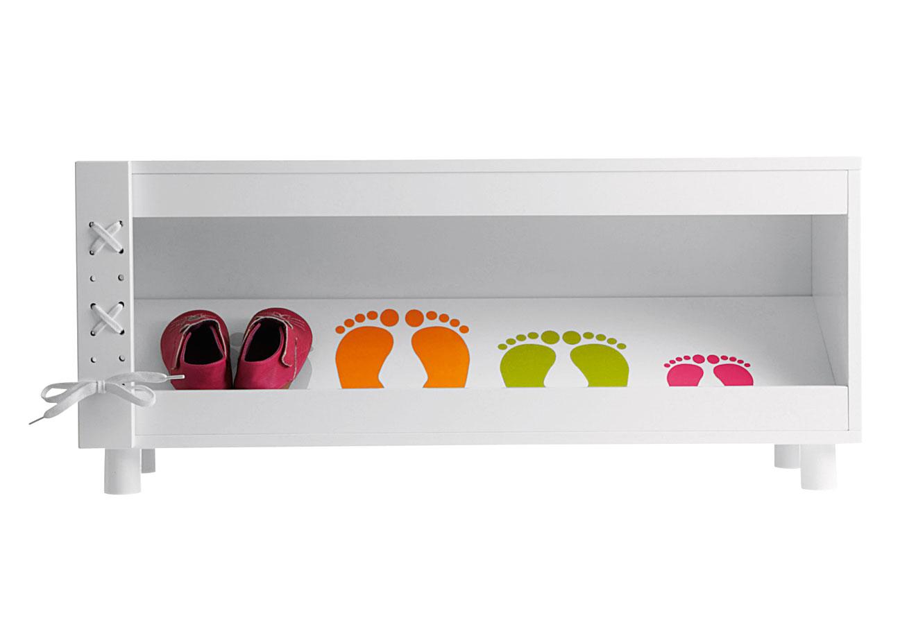 Schuhregal Für Kinder : schickes kinder schuhregal in wei oder gr n ~ Markanthonyermac.com Haus und Dekorationen